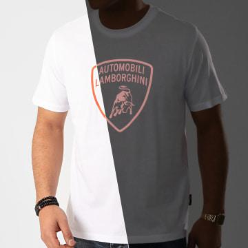 Lamborghini - Tee Shirt B3XVB7TL-30260 Blanc Orange Réfléchissant