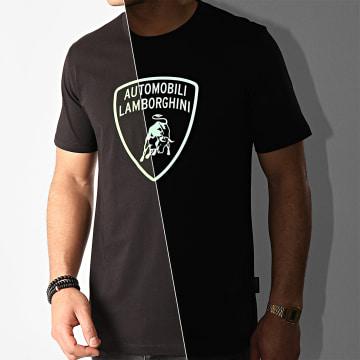 Lamborghini - Tee Shirt B3XVB7TL-30260 Noir Vert Réfléchissant