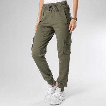 Noisy May - Jogger Pant Femme Hipe Vert Kaki