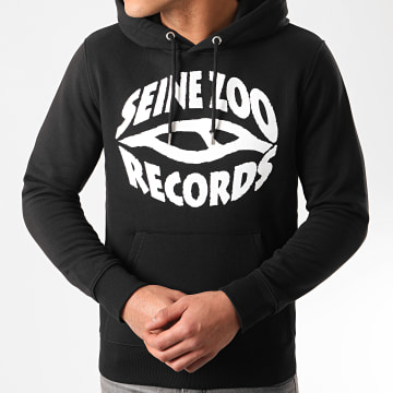 Seine Zoo - Sweat Capuche Logo Noir