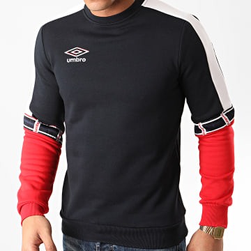 Umbro - Sweat Crewneck Tricolore 771910 Bleu Marine Rouge