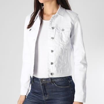Vero Moda - Veste Jean Femme Hot Soya Blanc