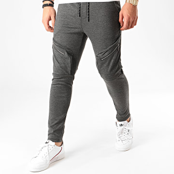 Aarhon - Pantalon Jogging 23810 Gris Anthracite Chiné