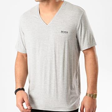 Tee Shirt Col V Comfort 50407677 Gris Chiné
