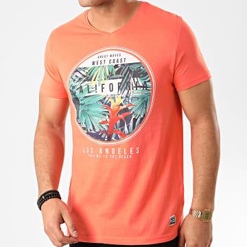 La Maison Blaggio - Tee Shirt Col V Manedo Corail