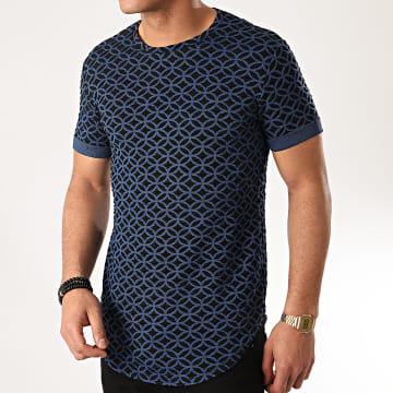 Uniplay - Tee Shirt Oversize UY485 Noir Bleu Marine