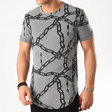 Tee Shirt Oversize UY483 Gris Noir
