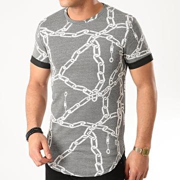 Uniplay - Tee Shirt Oversize UY483 Gris Blanc