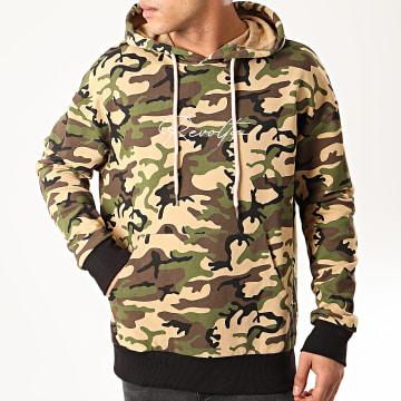 Uniplay - Sweat Capuche UY487 Beige Camouflage