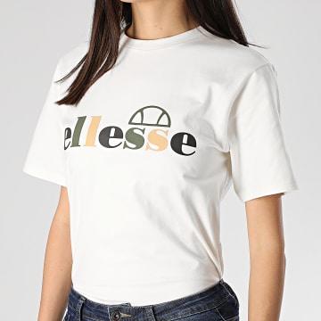 Tee Shirt Femme Rialzo SGE09697 Blanc Cassé