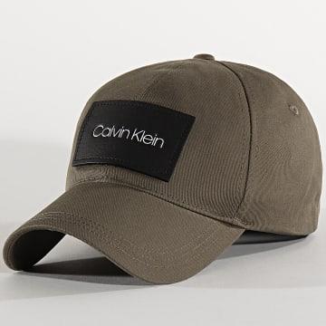 Casquette Leather Patch BB Cap 5490 Vert Kaki