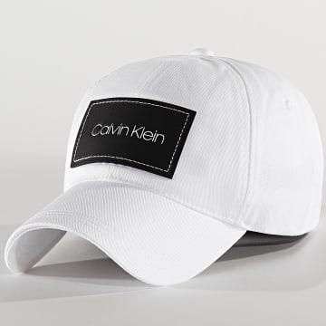 Calvin Klein - Casquette Leatherpatch 5490 Blanc