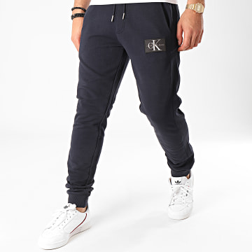 Pantalon Jogging Monogram Patch HWK 4066 Bleu Marine