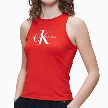 Calvin Klein - Débardeur Femme Monogram 3050 Rouge