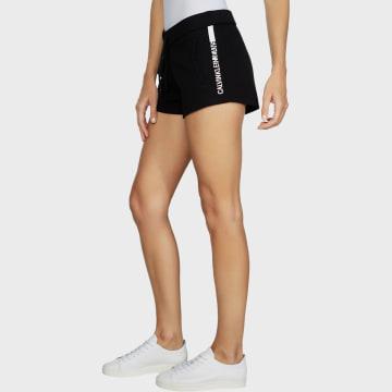 Calvin Klein - Short Jogging Femme Stripe Logo 3609 Noir