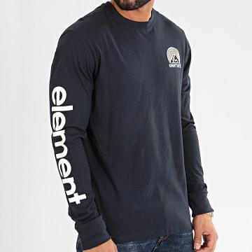 Element - Tee Shirt Manches Longues Sonata Bleu Marine