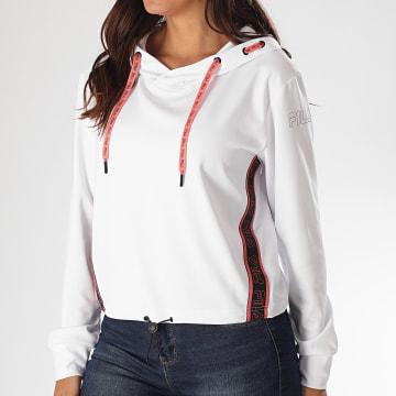Fila - Sweat Capuche Crop Femme Afia 683041 Blanc