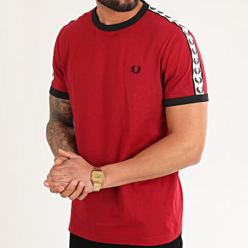 Fred Perry - Tee Shirt A Bandes Taped Ringer M6347 Rouge