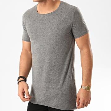 Tee Shirt Oversize F925 Gris Chiné