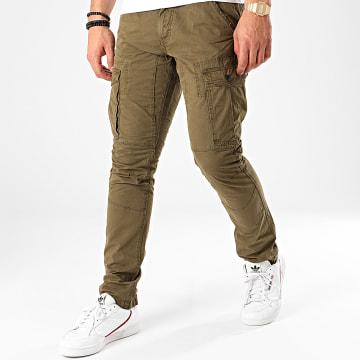 Indicode Jeans - Pantalon Cargo Guadalajara Vert Kaki