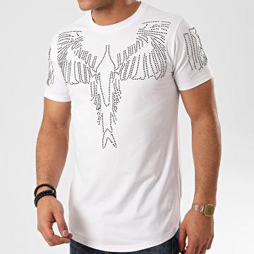 Mackten - Tee Shirt A Strass Oversize XS967 Blanc