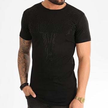 Tee Shirt A Strass Oversize XS967 Noir