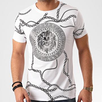 Tee Shirt A Strass L-2207 Blanc Renaissance