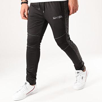 Project X - Pantalon Jogging A Bandes 2040074 Noir Réfléchissant