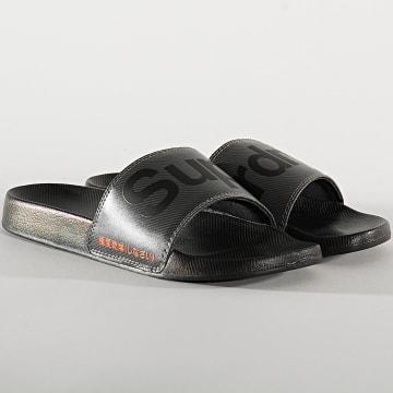 Superdry - Claquettes Printed Beach Slide Noir