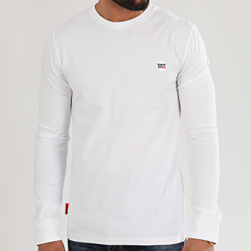 Superdry - Tee Shirt Manches Longues Collective M6010041A Blanc
