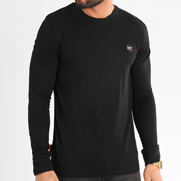 Superdry - Tee Shirt Manches Longues Collective M6010041A Noir