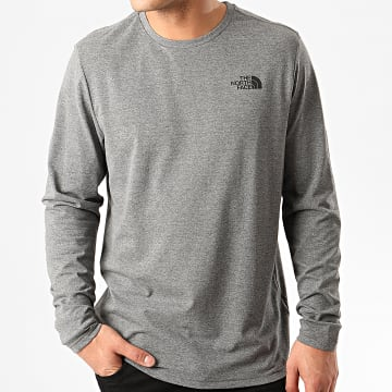 The North Face - Tee Shirt Manches Longues Easy A2TX1 Gris Chiné