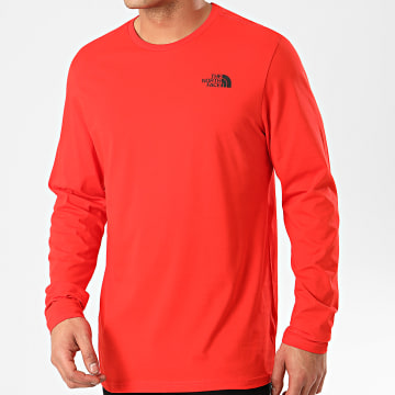 The North Face - Tee Shirt A Manches Longues Easy A2TX1 Rouge