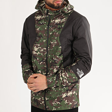 The North Face - Coupe-Vent A Capuche Moutain A3RYS Noir Vert Kaki Camouflage
