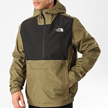 The North Face - Coupe-Vent Col Zippé A Capuche Waterproof A3XZM Vert Kaki