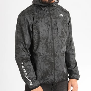 The North Face - Coupe-Vent Zippé A Capuche Wind A4CFW Gris Anthracite
