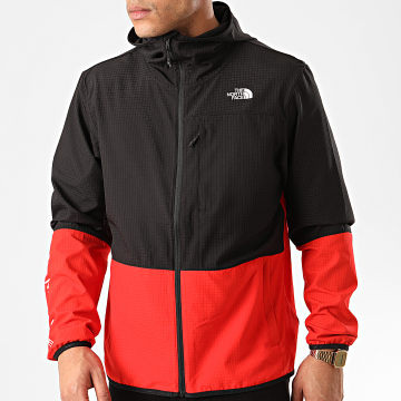 The North Face - Coupe-Vent A Capuche Wind A4CFW Noir Rouge