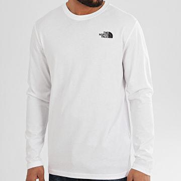 Tee Shirt Manches Longues Red Box A493L Blanc