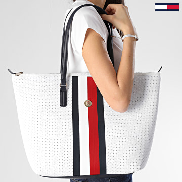 Tommy Hilfiger - Sac A Main Femme Poppy Tote Neoprene 7958 Blanc