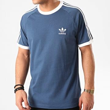 Tee Shirt A Bandes FM3772 Bleu Marine