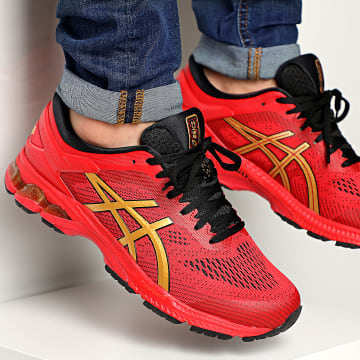Asics - Baskets Gel Kayano 26 1011A772 Classic Red Pure Gold
