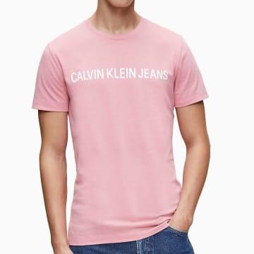 Calvin Klein - Tee Shirt Institutional Logo 7856 Rose