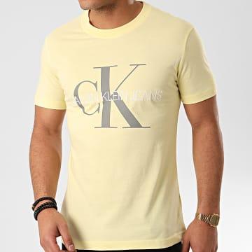 Tee Shirt Vegetable Dye Monogram 4762 Jaune Pastel