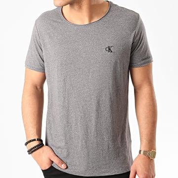 Calvin Klein - Tee Shirt Grindle Raw Edge 5169 Gris Chiné