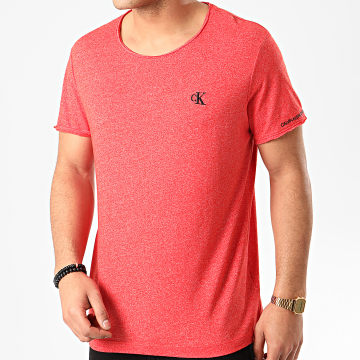 Calvin Klein - Tee Shirt Grindle Raw Edge 5169 Rouge Chiné