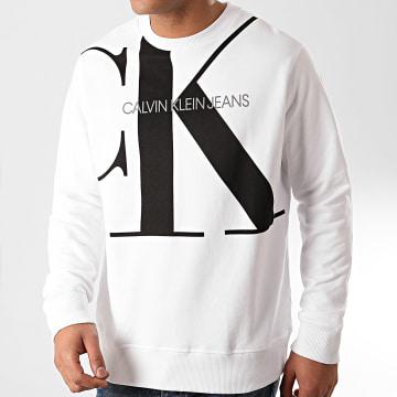 Calvin Klein - Sweat Crewneck Upscale Monogram 5293 Blanc