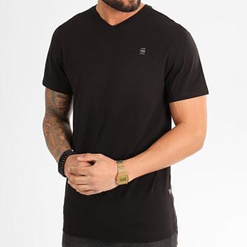 G-Star - Tee Shirt Col V Base-S D16412-336 Noir