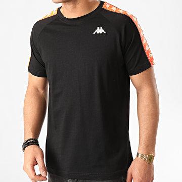 Kappa - Tee Shirt A Bandes Coen 303UV10 Noir