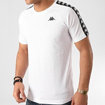 Kappa - Tee Shirt A Bandes Coen 303UV10 Blanc