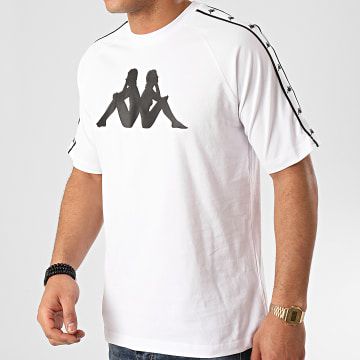 Kappa - Tee Shirt A Bandes Authentic Tait 3111FNW Blanc